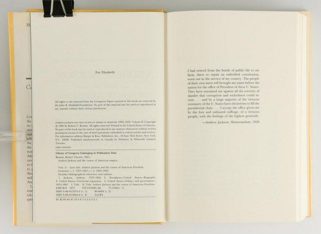 Remini, Andrew Jackson Bio 3 vols, Signed - 7