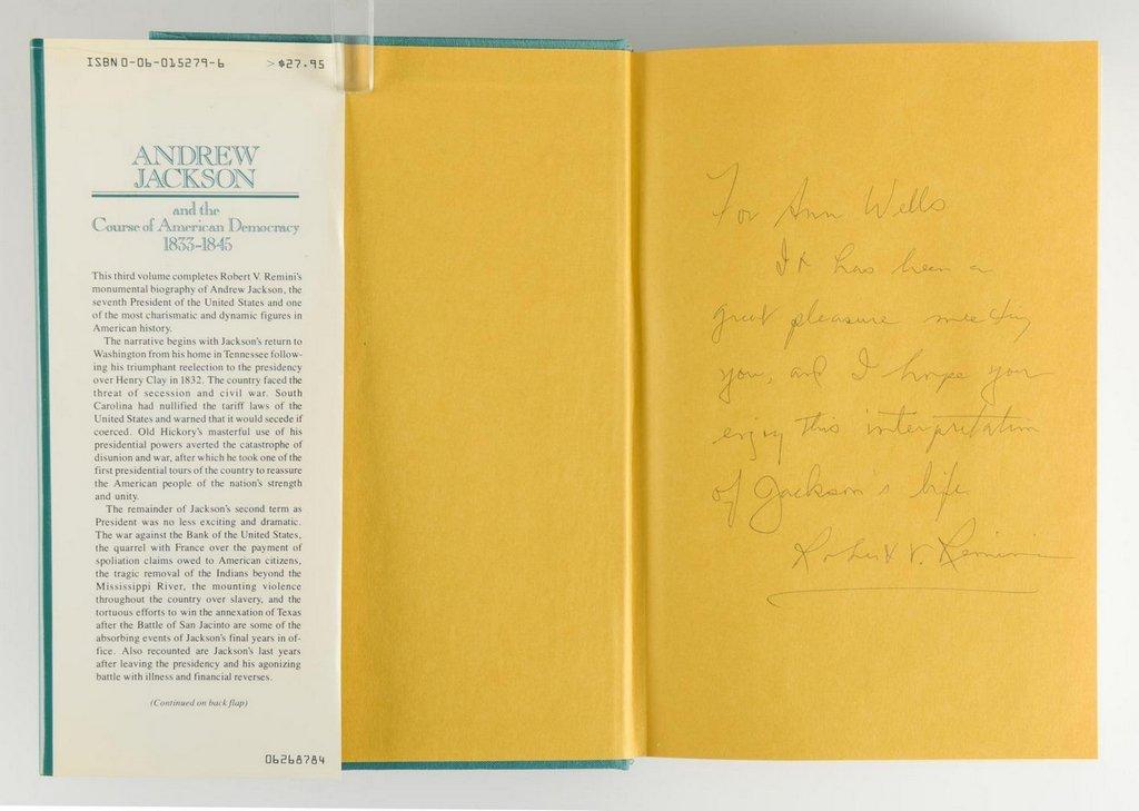 Remini, Andrew Jackson Bio 3 vols, Signed - 9