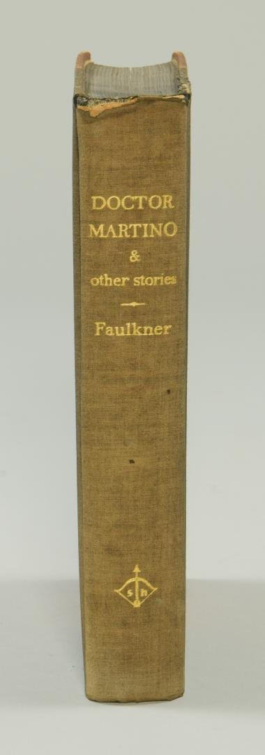 """Signed William Faulkner Book , """"Doctor Martino & Other - 2"""