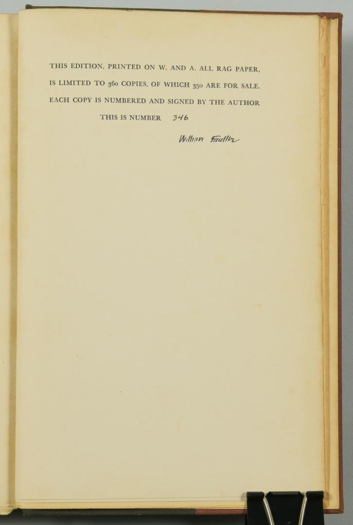 """Signed William Faulkner Book , """"Doctor Martino & Other - 3"""