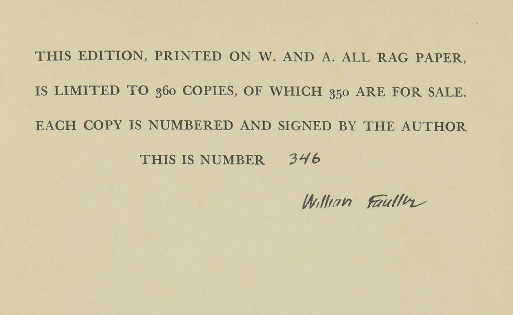 """Signed William Faulkner Book , """"Doctor Martino & Other - 4"""