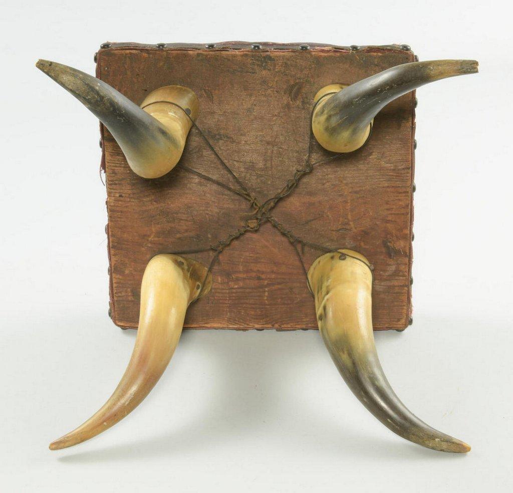 3 Texas Horn Stools - 3