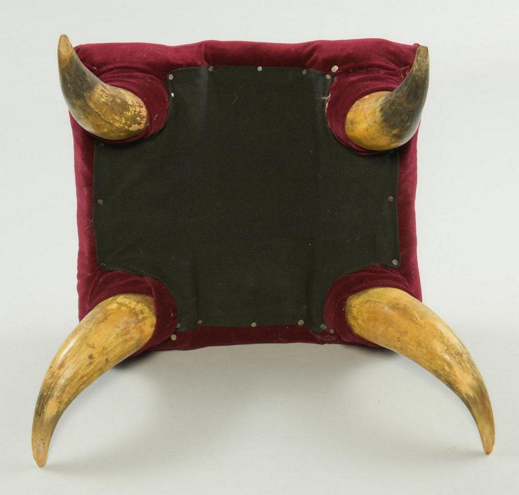 3 Texas Horn Stools - 6