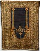 Antique Silk Tabriz Prayer Rug