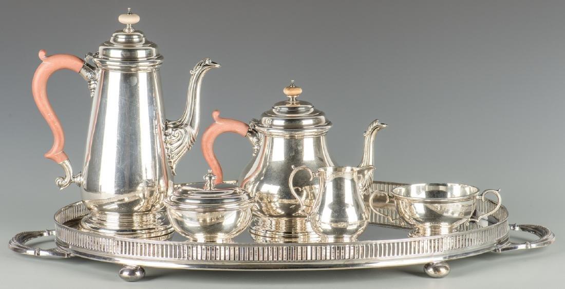 English Sterling  Tea Service, Adie Bros.