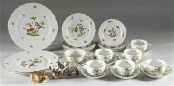Herend Rothschild Dinnerware  Smithsonian Animals