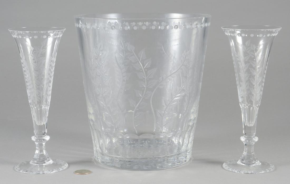 "William Yeoward ""Fern"" Ice Bucket & 2 Flutes"