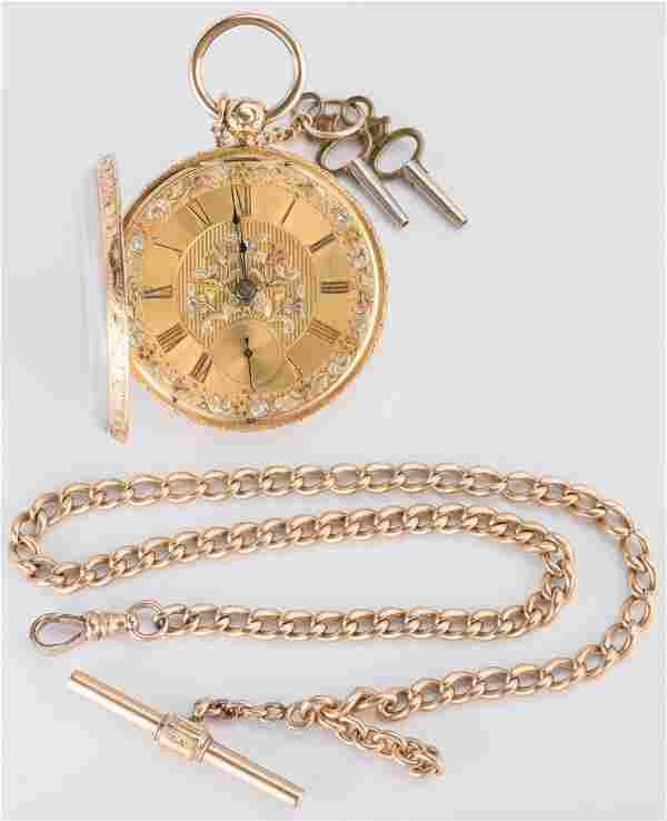 18K Jos. Johnson Pocket Watch