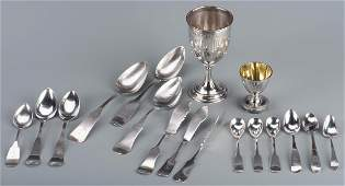 Assd Coin silver inc Southern and Goblet