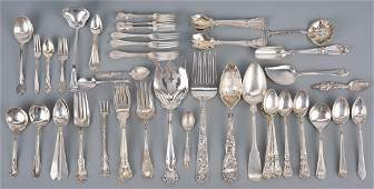 64 pcs Assorted sterling flatware