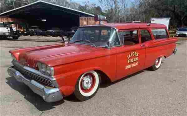 1959 Ford Galaxie Courier Wagon Ambulance