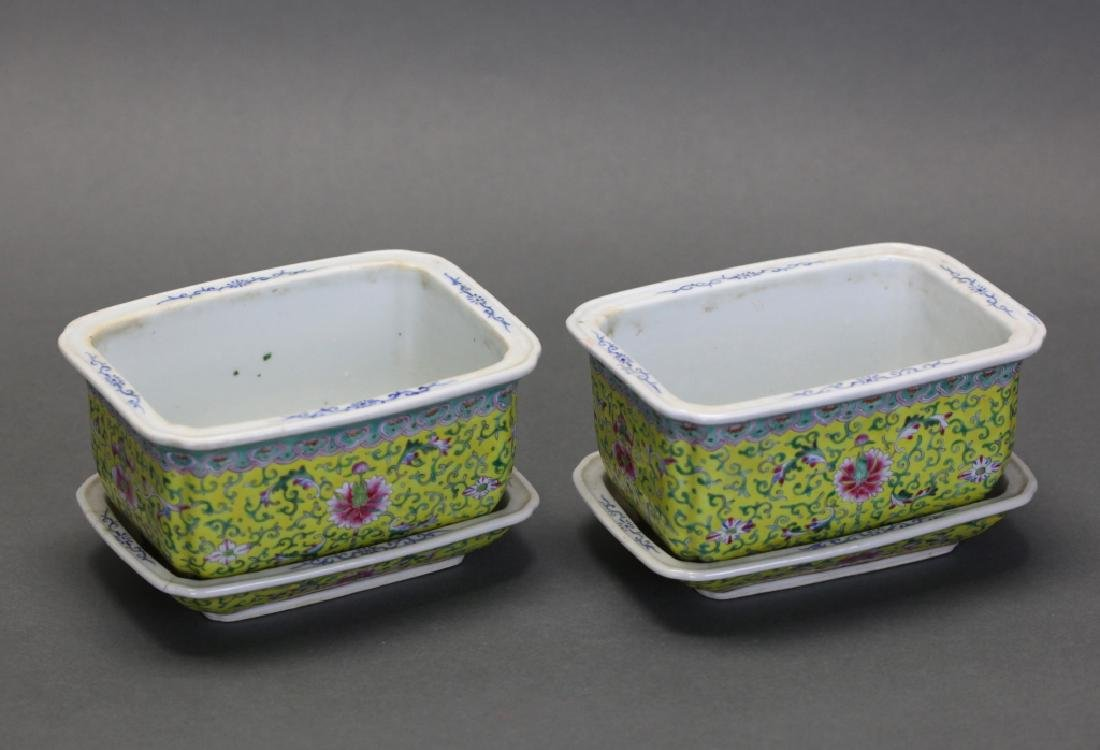 pair of famille rose planters, late Qing dynasty