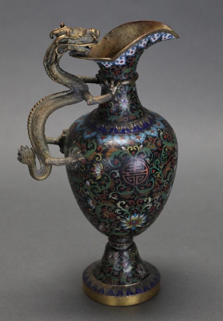 Chinese gilt cloisonne ewer, Qing dynasty