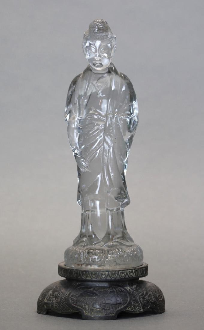 Chinese crystal/glass carving of a Guanyin