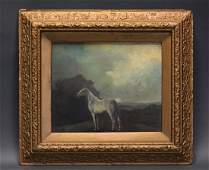 American oil painting of a horse, early 20th c.