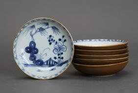 set of 6 Chinese porcelain dishes, Qing dynasty
