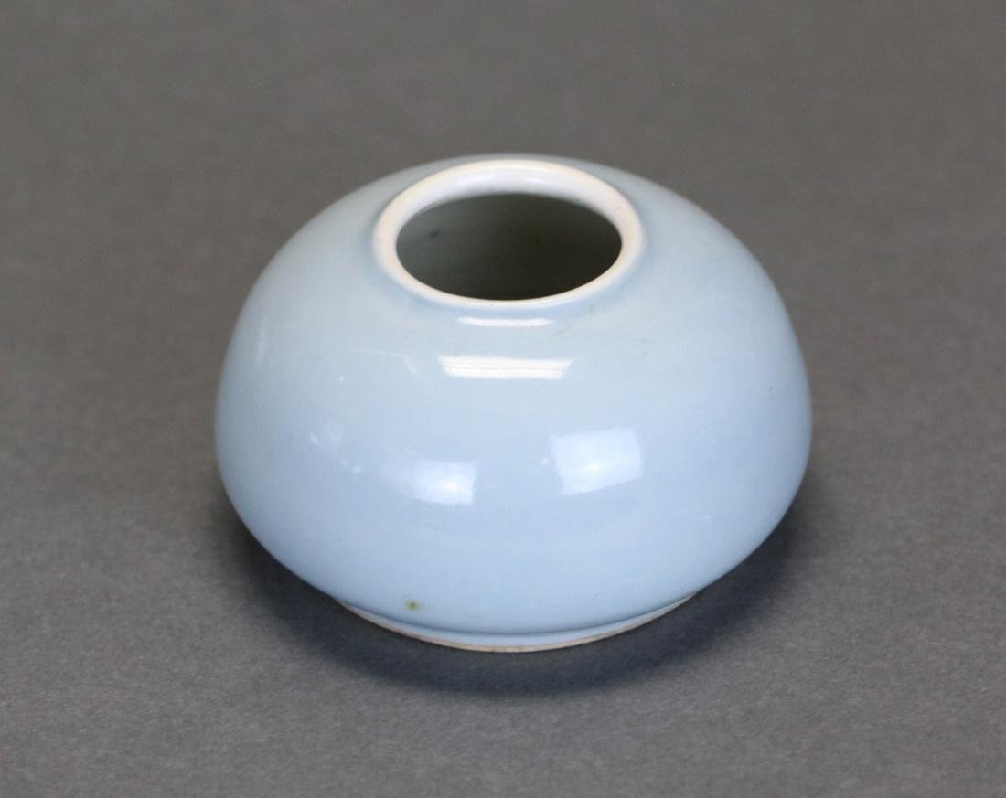 Chinese porcelain water pot, Republican/Qing dynasty