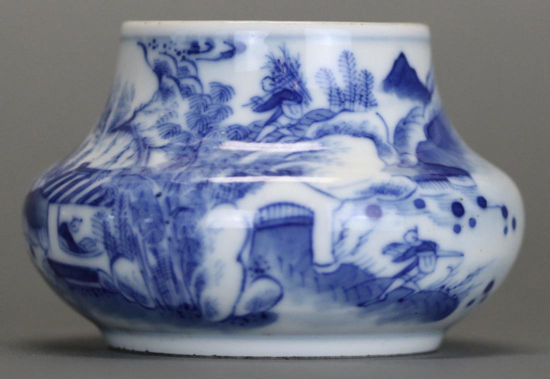 Chinese blue & white porcelain bowl, 19th c.