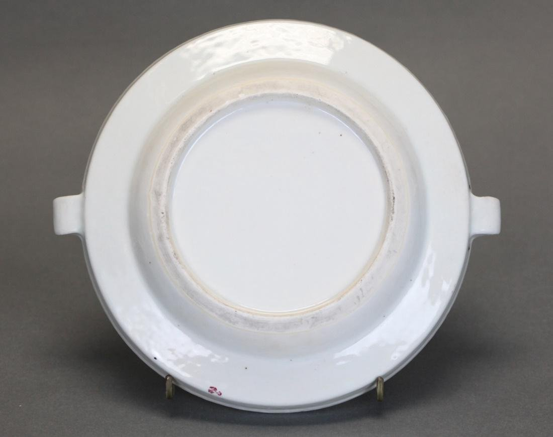 Chinese export porcelain hot water platter, 19th c. - 4