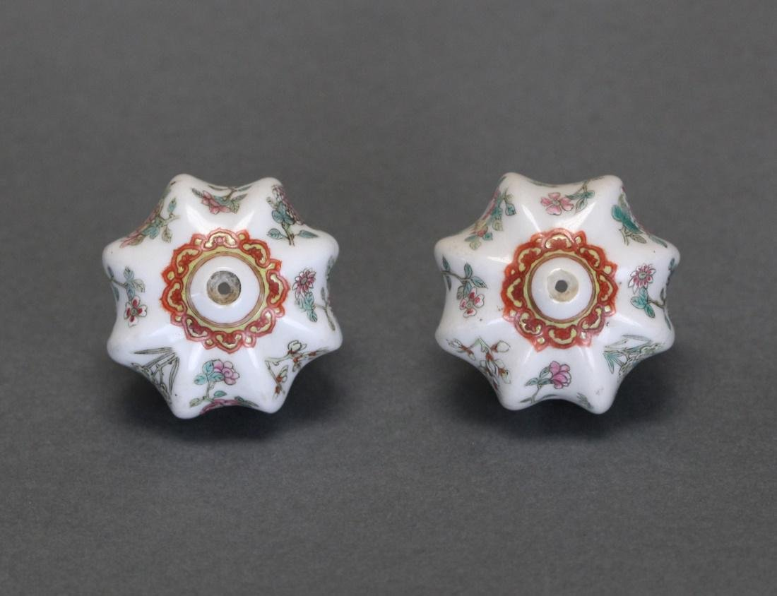 pair of Chinese porcelain opium pipe bowls - 6
