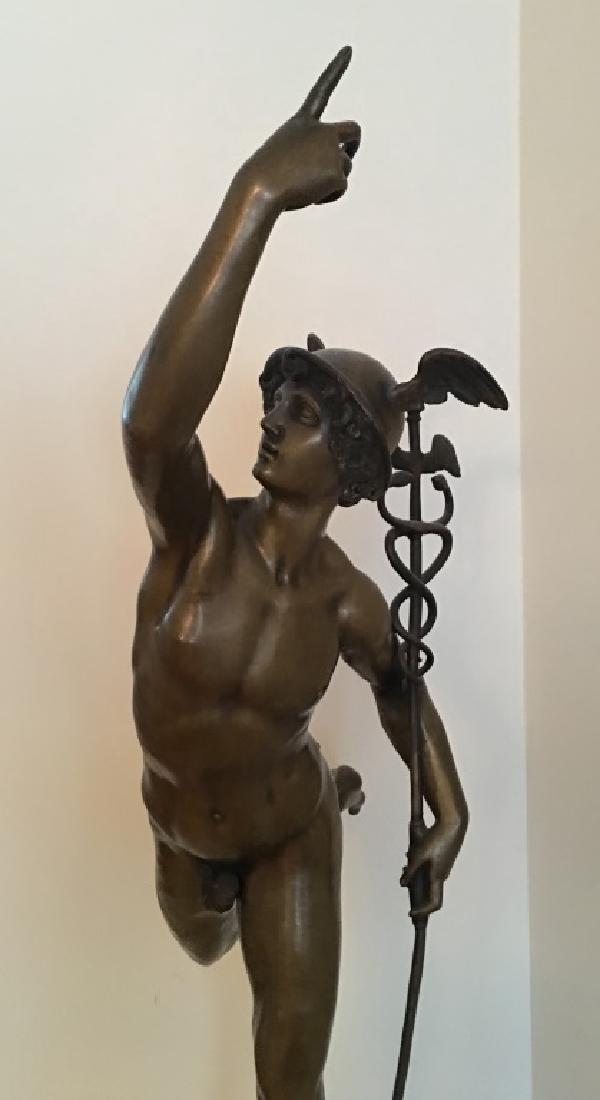 large bronze sculpture of Mercury/Hermes, 19th c. - 2