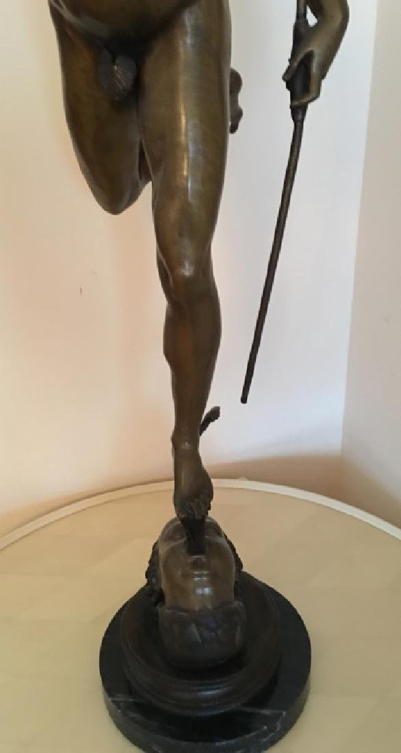 large bronze sculpture of Mercury/Hermes, 19th c. - 3