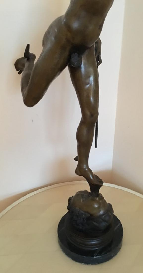 large bronze sculpture of Mercury/Hermes, 19th c. - 5