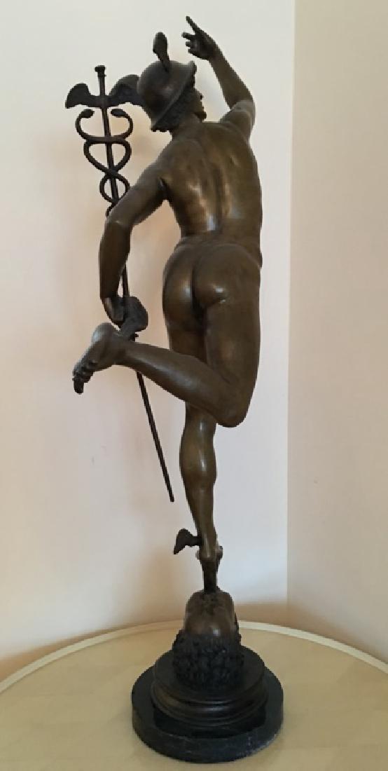large bronze sculpture of Mercury/Hermes, 19th c. - 6
