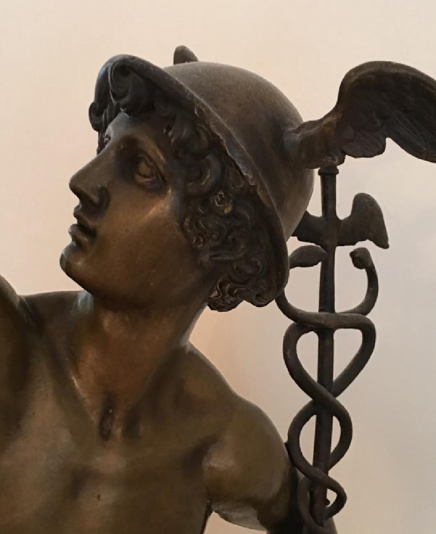 large bronze sculpture of Mercury/Hermes, 19th c. - 9