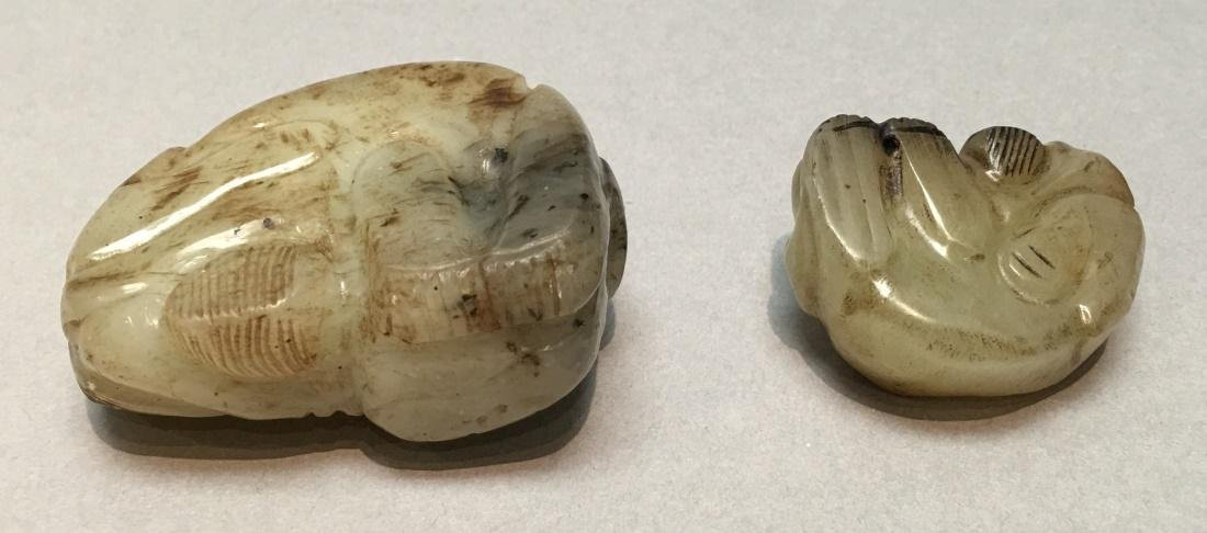 2 Chinese nephrite jade animal carvings, Qing dynasty - 2