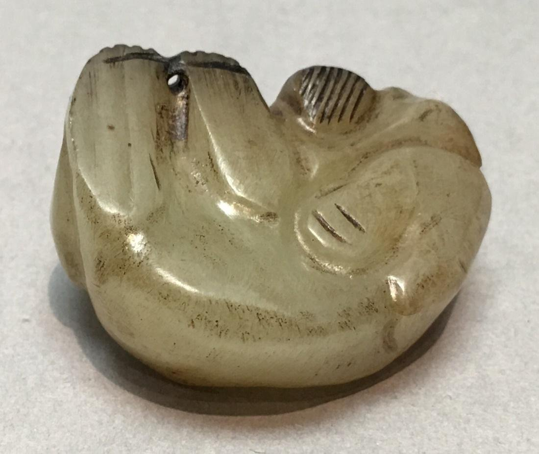 2 Chinese nephrite jade animal carvings, Qing dynasty - 7