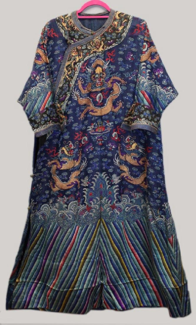 Chinese imperial dragon summer robe, Qing dynasty