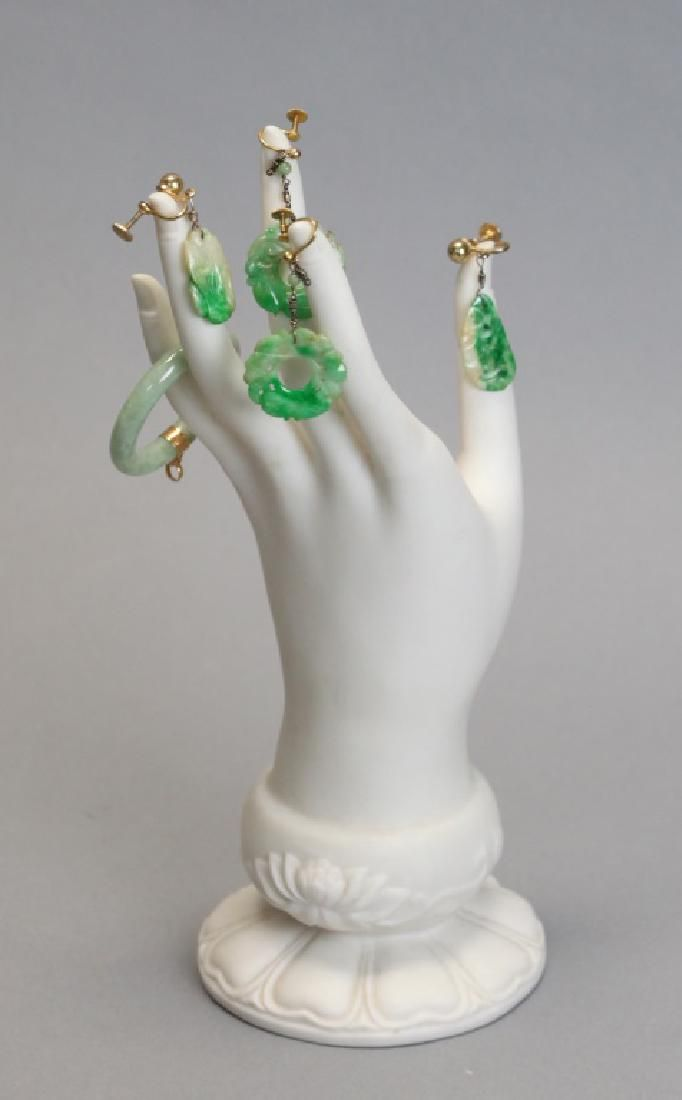 group of Chinese jadeite jewelry, Republican period