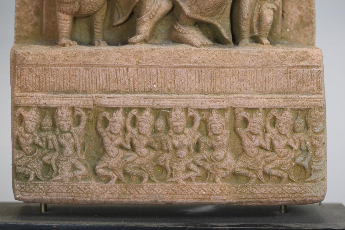 Asian stone stele of a deity - 4
