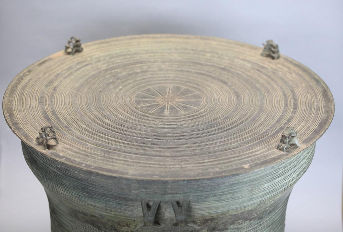 Southeast Asian bronze rain drum, 19th c. - 2