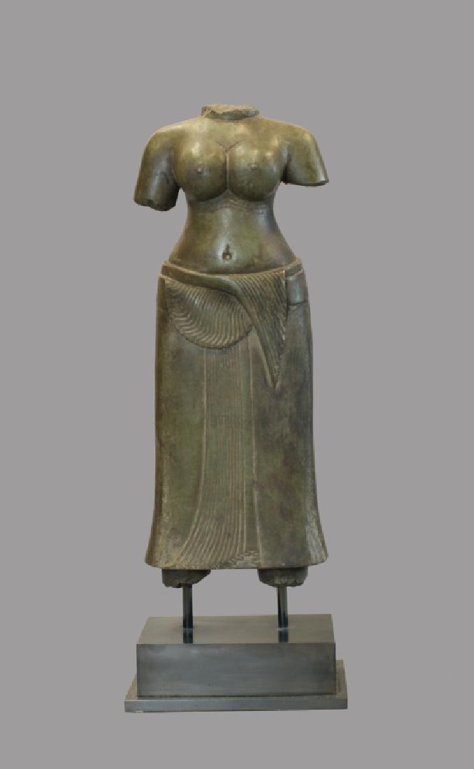 Asian stone torso