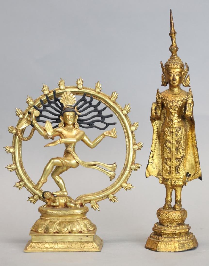 2 Thai bronze Buddhas