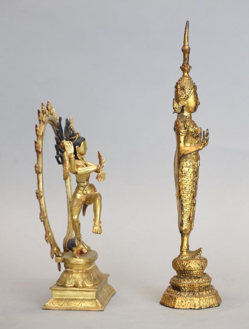 2 Thai bronze Buddhas - 2