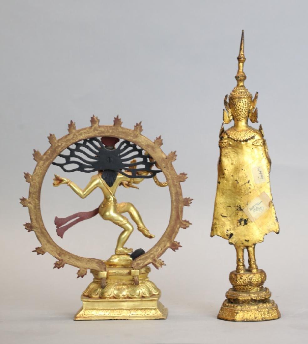 2 Thai bronze Buddhas - 3