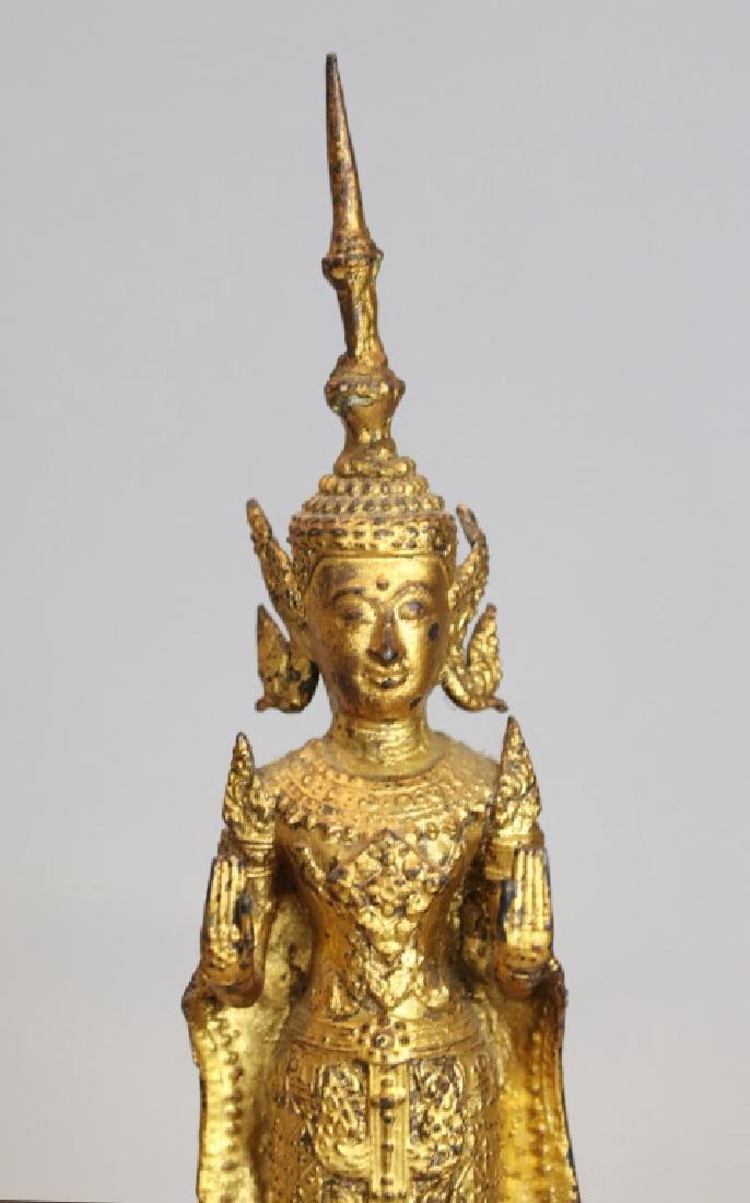 2 Thai bronze Buddhas - 7
