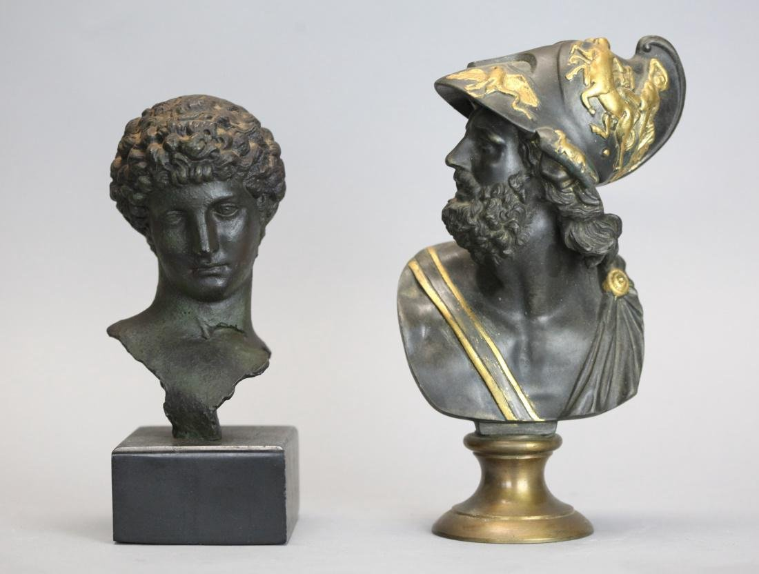 2 metal busts