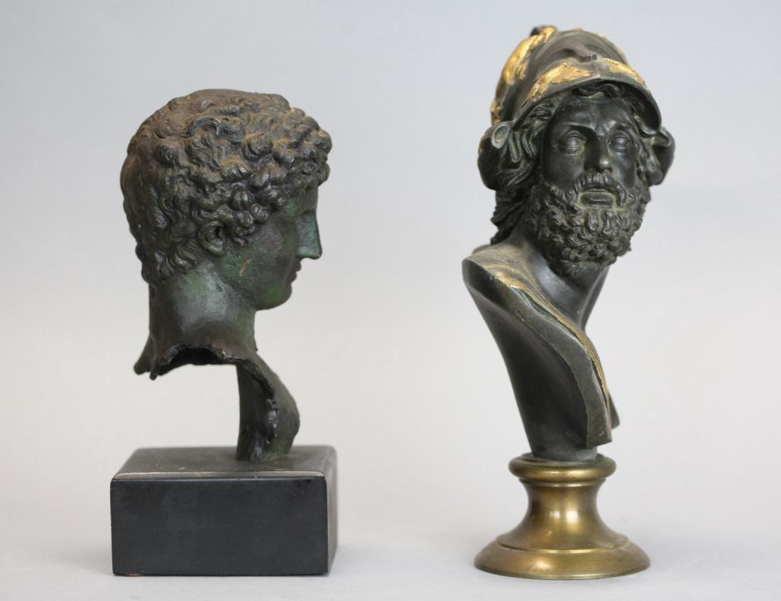 2 metal busts - 2