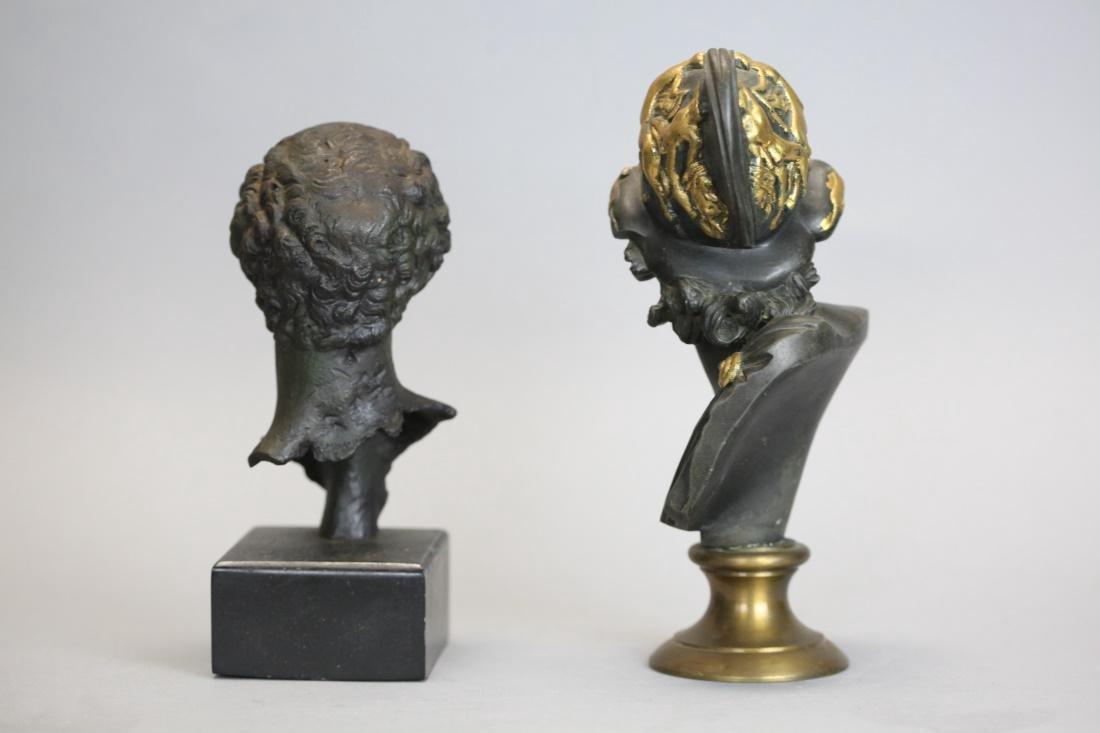 2 metal busts - 3