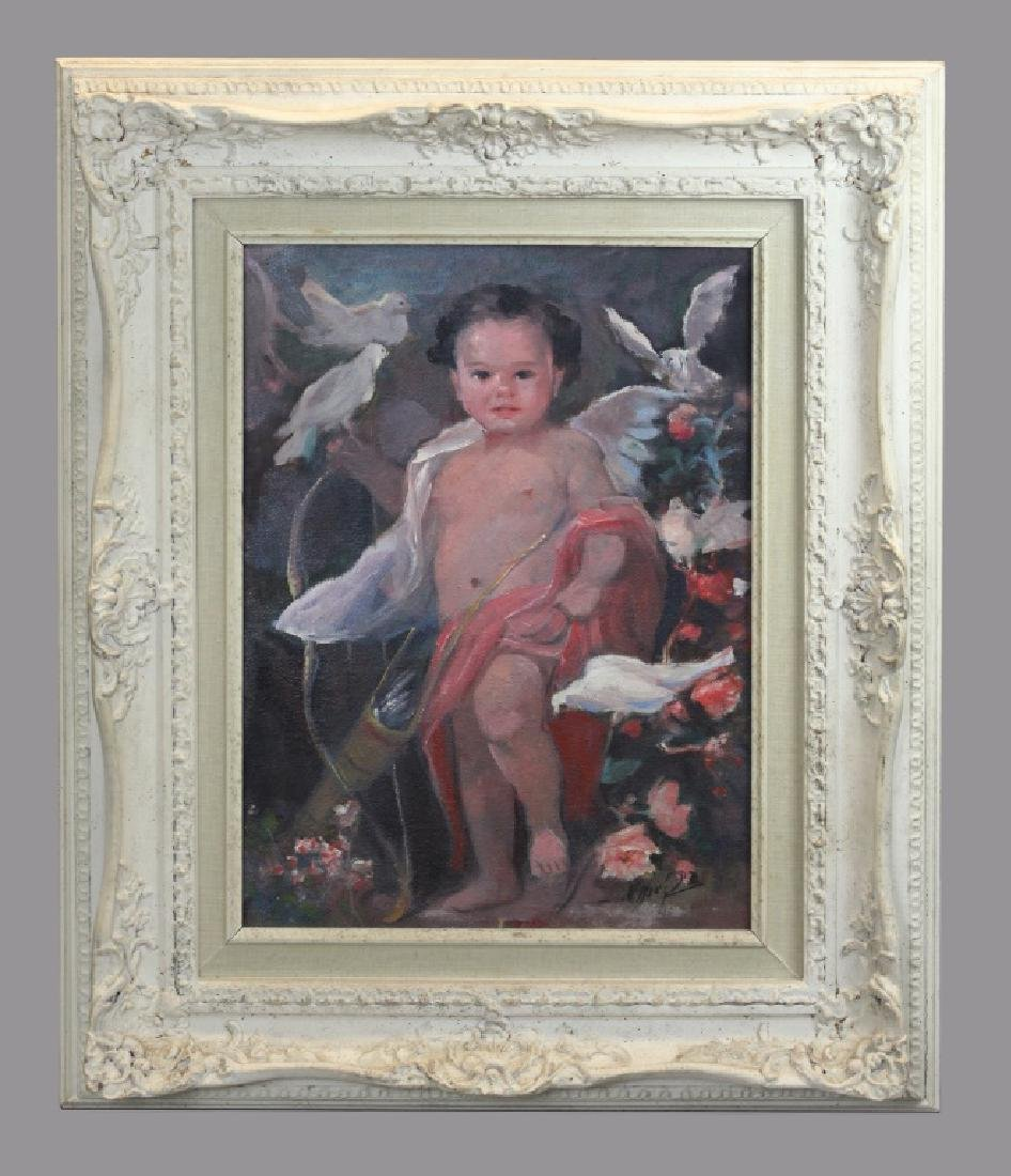 portrait of a child, signed Martin Manero