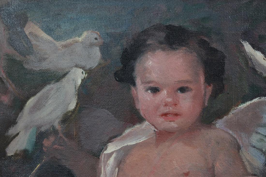 portrait of a child, signed Martin Manero - 2