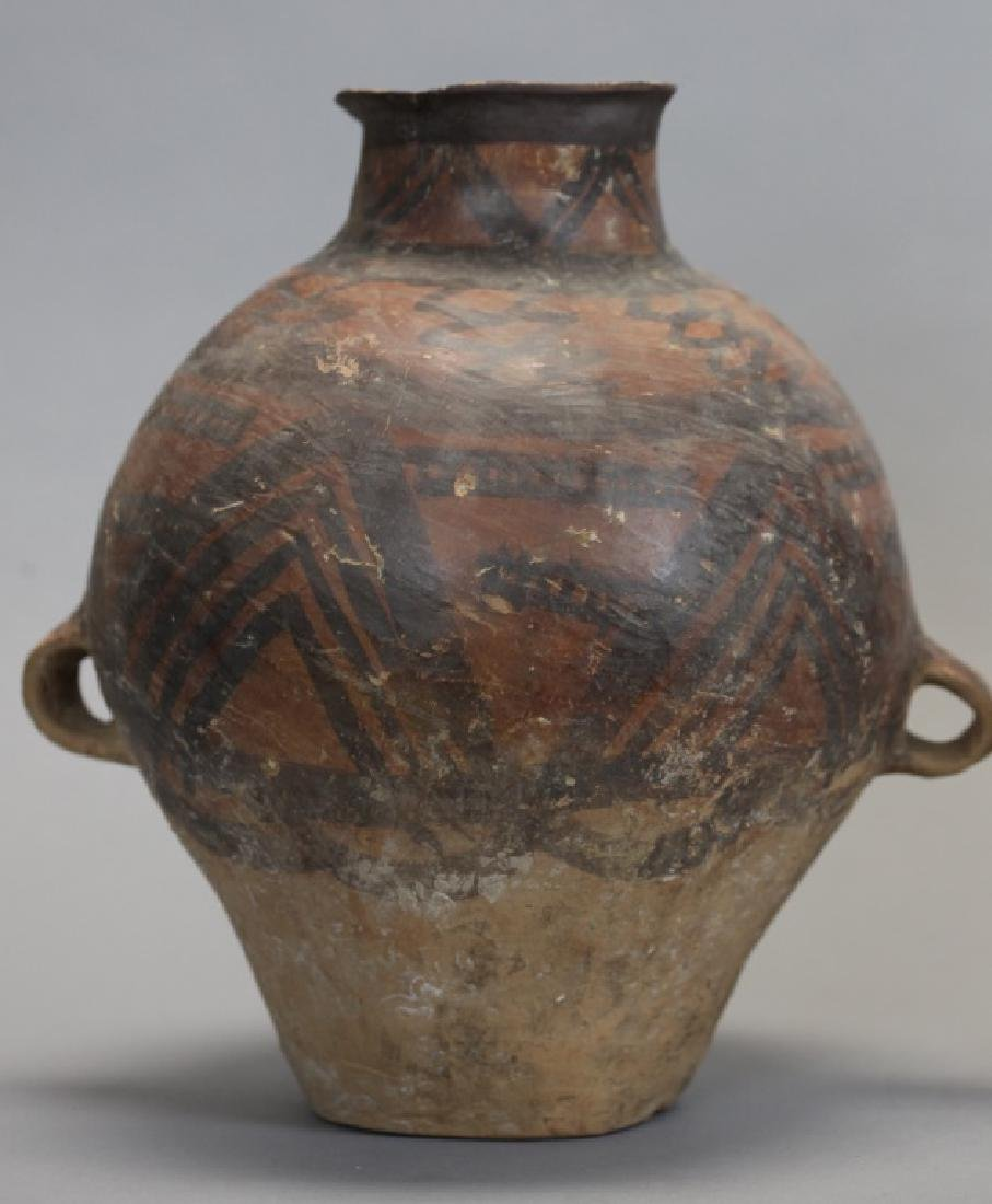 2 Chinese neolithic pottery jars - 2