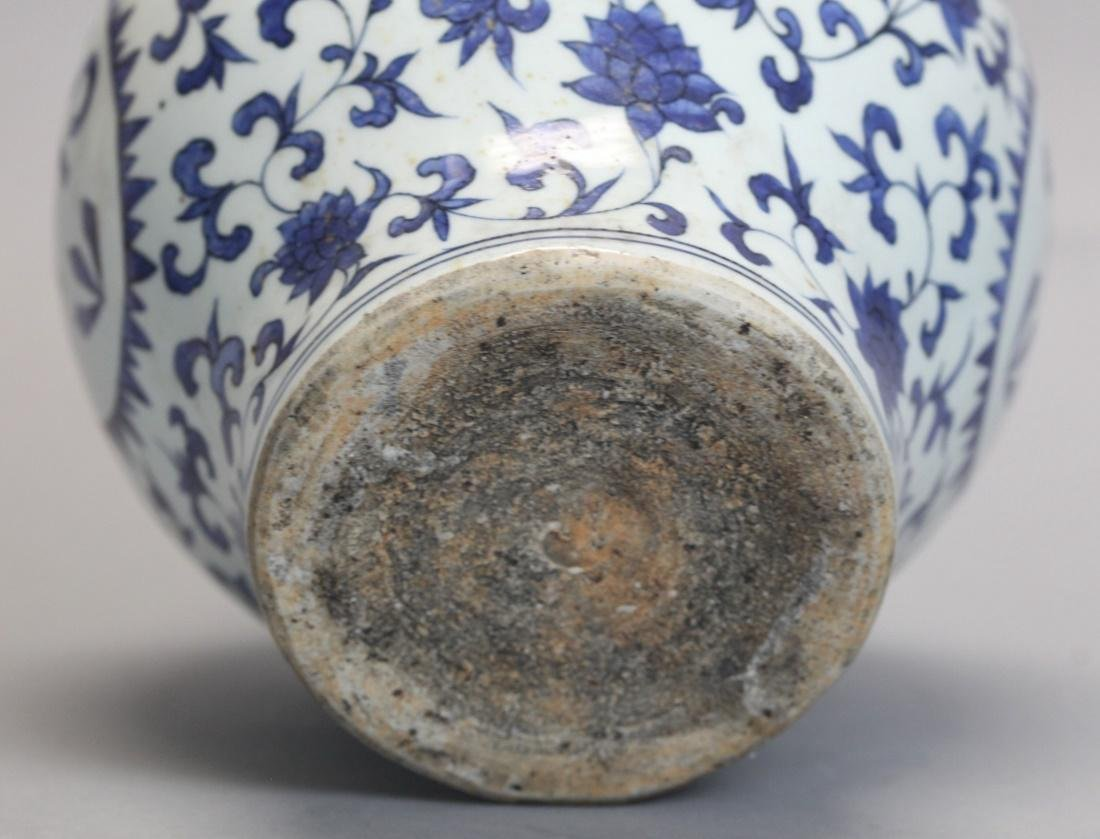 Chinese export blue & white porcelain jar - 3