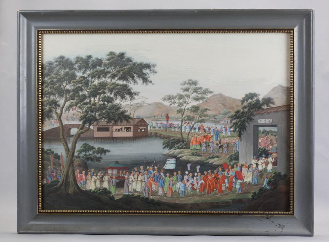 Chinese watercolor painting, early 19th c.