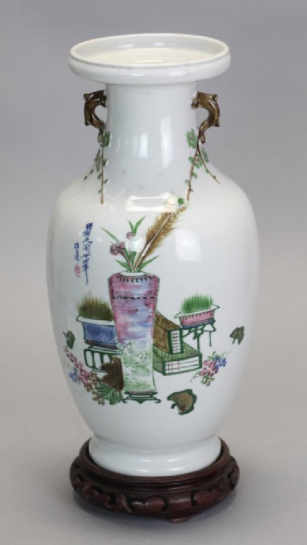 Chinese vase by artist De Yu, Republican period