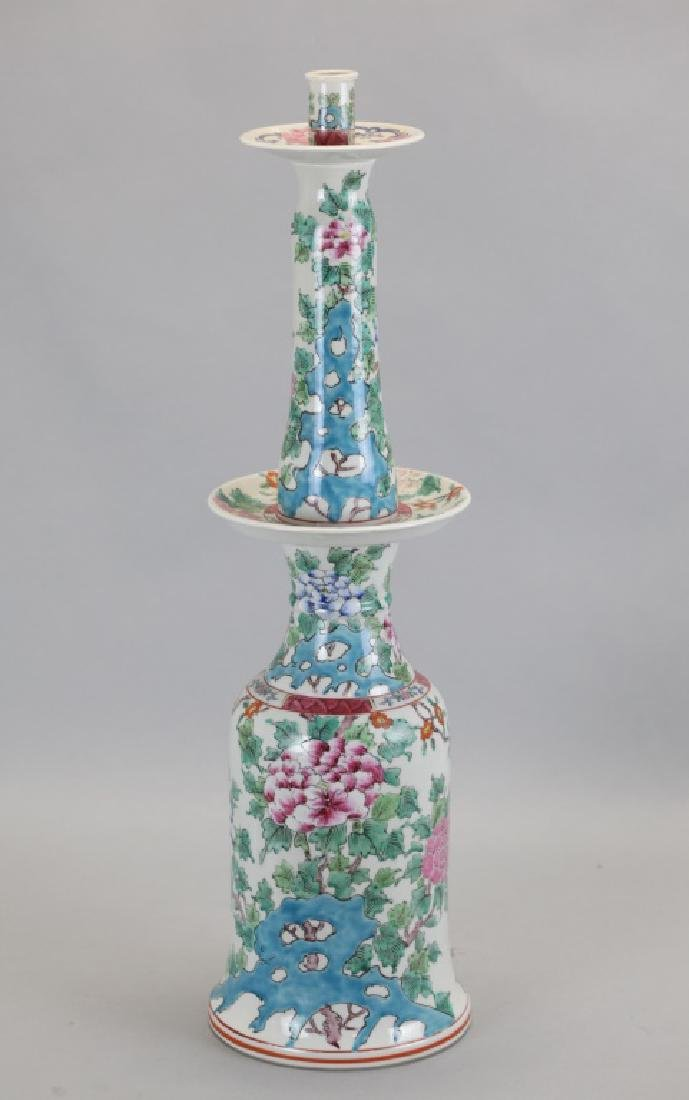 Chinese porcelain candle stick holder
